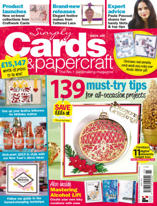 Simply Cards and Papercraft ISSUE185