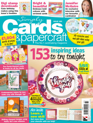 Simply Cards and Papercraft ISSUE189