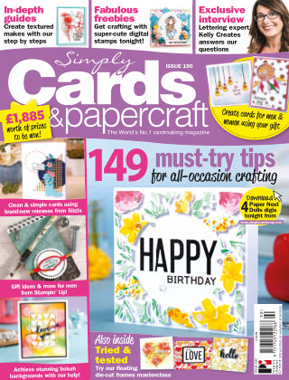 Simply Cards and Papercraft ISSUE190