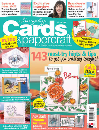 Simply Cards and Papercraft ISSUE191