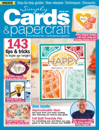 Simply Cards and Papercraft ISSUE203