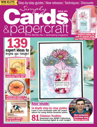 Simply Cards and Papercraft ISSUE204