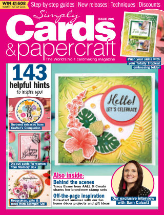 Simply Cards and Papercraft ISSUE205