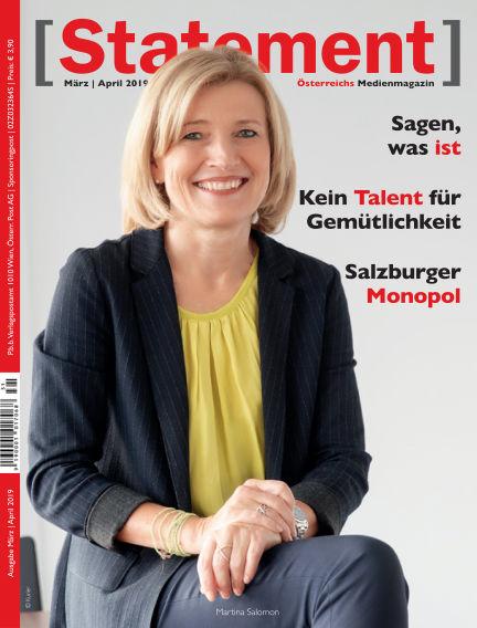 [Statement] - Österreichs Medienmagazin March 01, 2019 00:00