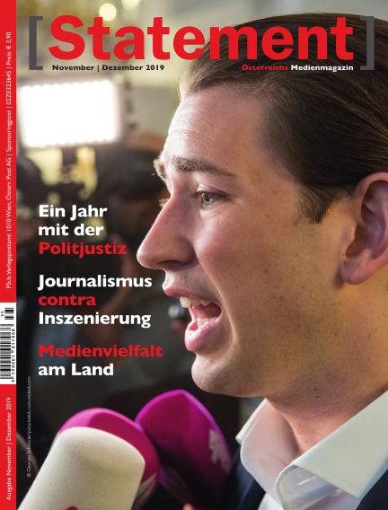 [Statement] - Österreichs Medienmagazin November 01, 2019 00:00