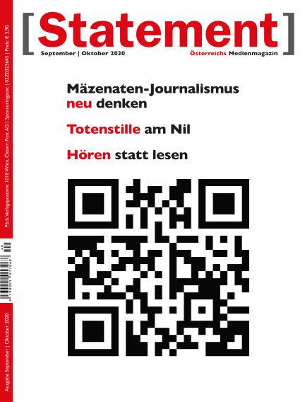 [Statement] - Österreichs Medienmagazin September 01, 2020 00:00