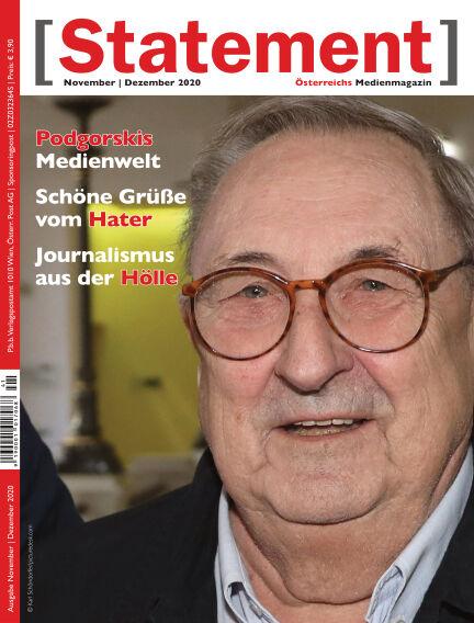 [Statement] - Österreichs Medienmagazin November 02, 2020 00:00