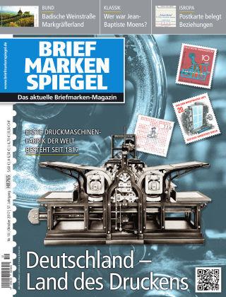 BRIEFMARKEN SPIEGEL 10/2017