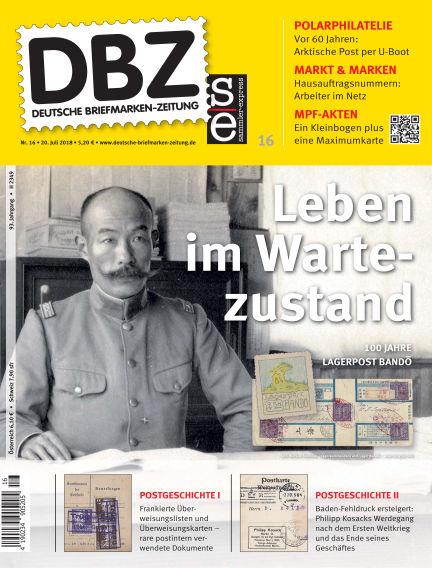 Deutsche Briefmarken-Zeitung July 20, 2018 00:00