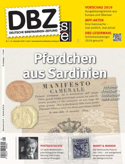 Deutsche Briefmarken-Zeitung December 21, 2018 00:00