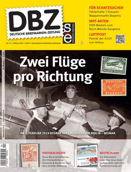 Deutsche Briefmarken-Zeitung February 01, 2019 00:00