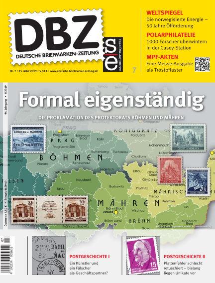 Deutsche Briefmarken-Zeitung March 15, 2019 00:00