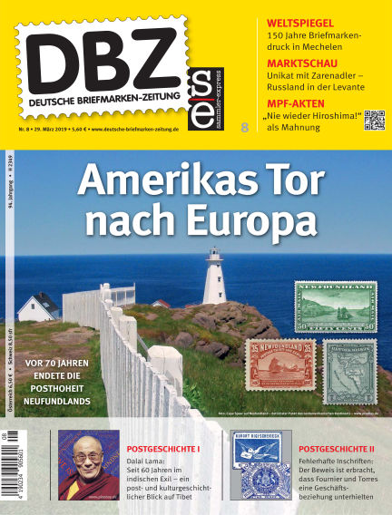 Deutsche Briefmarken-Zeitung March 29, 2019 00:00