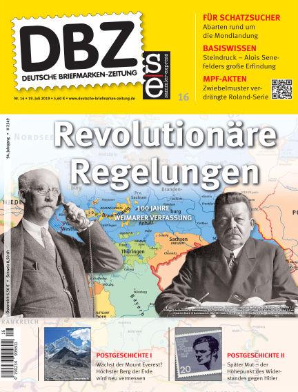 Deutsche Briefmarken-Zeitung July 19, 2019 00:00