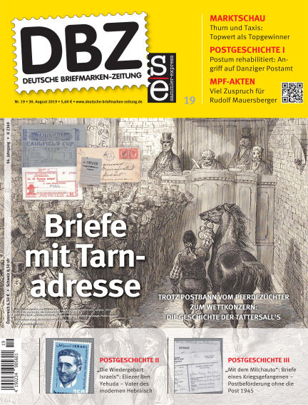 Deutsche Briefmarken-Zeitung August 30, 2019 00:00