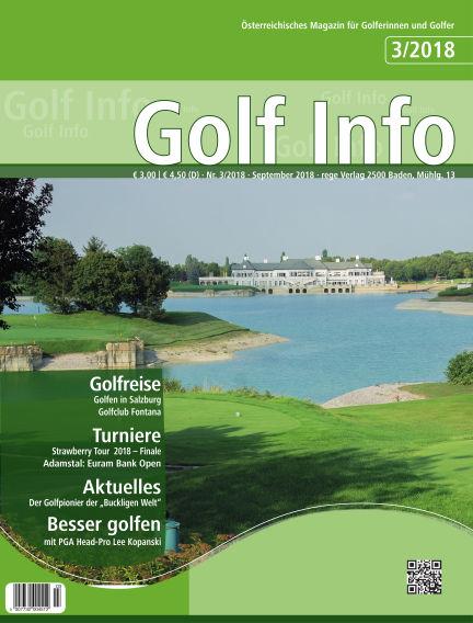 Golf Info September 15, 2018 00:00