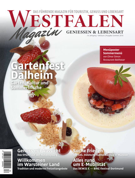 WESTFALEN Magazin (eingestellt) June 03, 2018 00:00