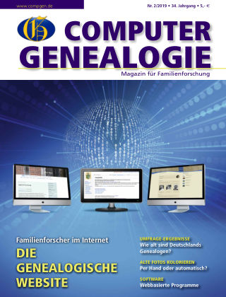 Computergenealogie / Familienforschung 02/2019