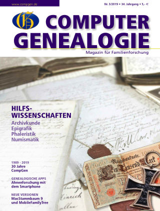 Computergenealogie / Familienforschung 03/2019