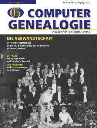 Computergenealogie / Familienforschung 01/2020