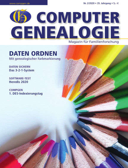 Computergenealogie / Familienforschung June 19, 2020 00:00