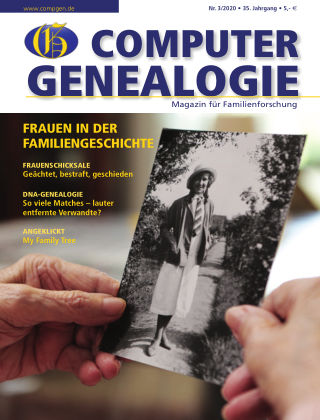 Computergenealogie / Familienforschung 3/2020