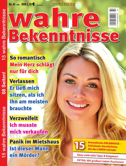 Wahre Bekenntnisse May 15, 2019 00:00