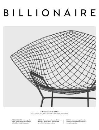 BILLIONAIRE Magazine 01 - The Designer