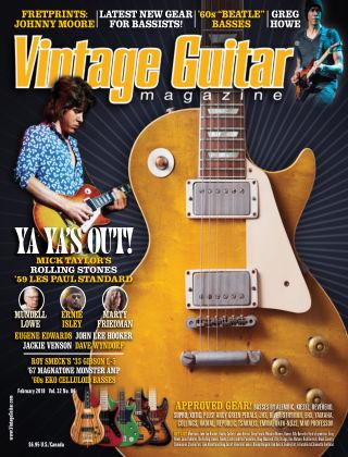 Vintage Guitar Magazine February 2018