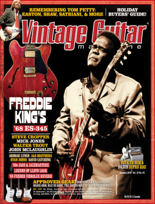 Vintage Guitar Magazine January 2018