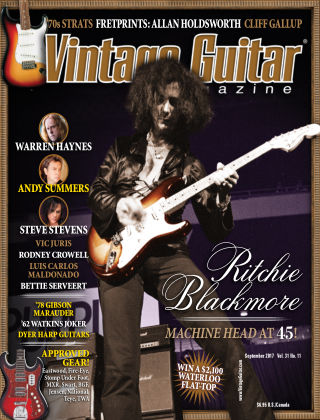 Vintage Guitar Magazine September 2017