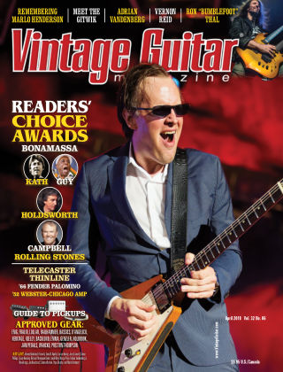 Vintage Guitar Magazine April 2018