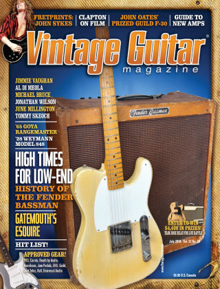 Vintage Guitar Magazine July 2018