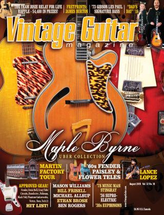 Vintage Guitar Magazine August 2018