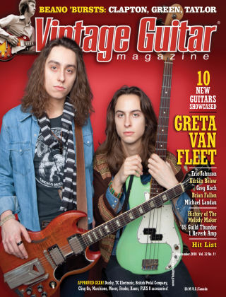 Vintage Guitar Magazine September 2018