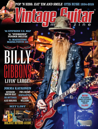 Vintage Guitar Magazine January 2019