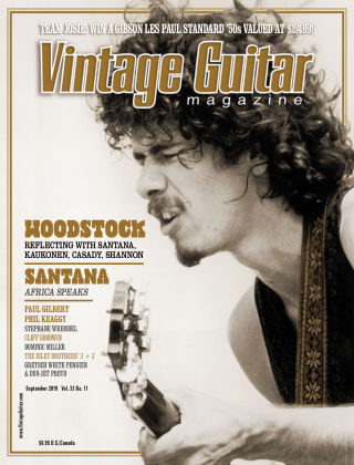 Vintage Guitar Magazine September 2019
