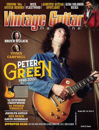 Vintage Guitar Magazine October 2020