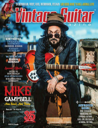 Vintage Guitar Magazine March 2021