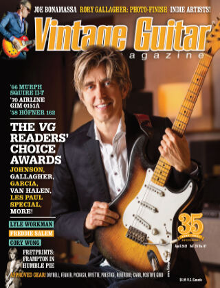 Vintage Guitar Magazine April 2021
