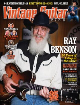 Vintage Guitar Magazine August 2021