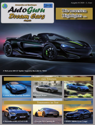 AutoGuru Spezial Dream Cars 01/2020