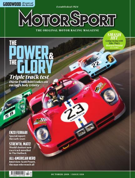 Motor Sport August 31, 2018 00:00