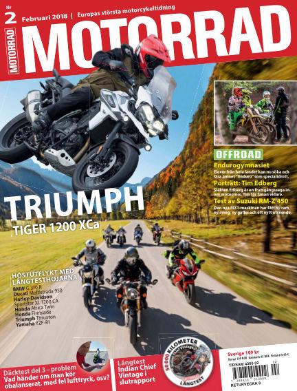 """Motorrad Sweden (Nya utgåvor publiceras under """"Bike Powered by Motorrad"""") January 23, 2018 00:00"""
