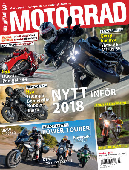 "Motorrad Sweden (Nya utgåvor publiceras under ""Bike Powered by Motorrad"") February 20, 2018 00:00"