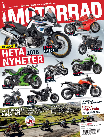 "Motorrad Sweden (Nya utgåvor publiceras under ""Bike Powered by Motorrad"") December 11, 2017 00:00"