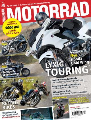 """Motorrad Sweden (Nya utgåvor publiceras under """"Bike Powered by Motorrad"""") 2018-03-20"""