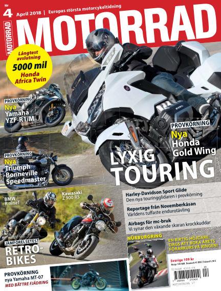 """Motorrad Sweden (Nya utgåvor publiceras under """"Bike Powered by Motorrad"""") March 20, 2018 00:00"""