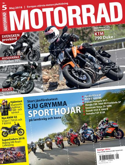 "Motorrad Sweden (Nya utgåvor publiceras under ""Bike Powered by Motorrad"") April 24, 2018 00:00"