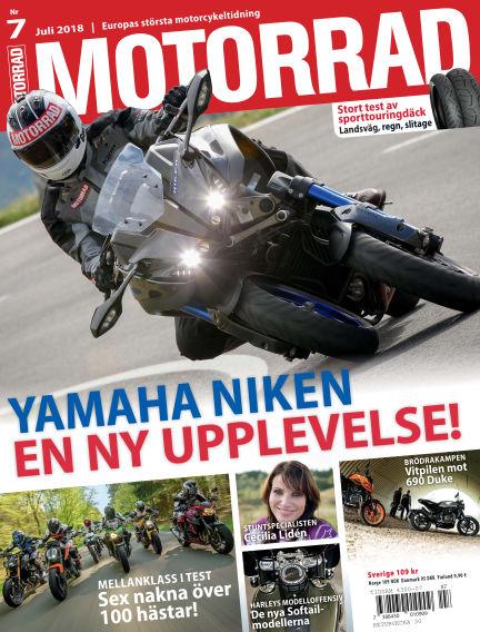 """Motorrad Sweden (Nya utgåvor publiceras under """"Bike Powered by Motorrad"""") June 21, 2018 00:00"""